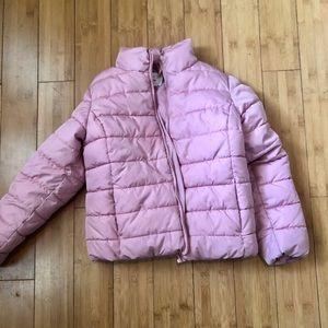 Children's Place   Pink Puffer Jacket Sz L